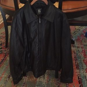 g gear for sports men's leather jacket